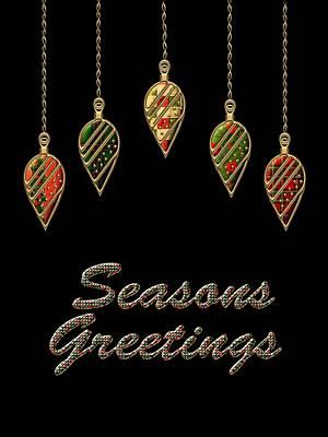 David Drawing - Seasons Greetings Merry Christmas by Movie Poster Prints