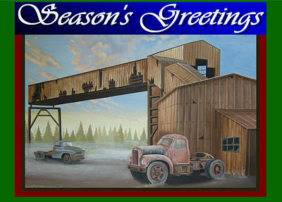 Art Print featuring the painting Season's Greetings Old Mine by Stuart Swartz