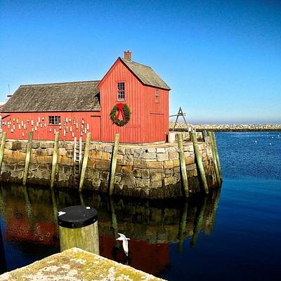 Photograph - Season's Greetings Rockport Ma by Suzanne McDonald