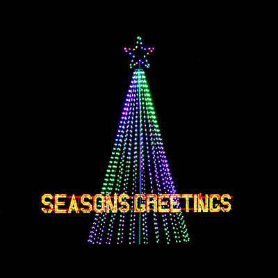 Photograph - Seasons Greetings Square by Carolyn Derstine