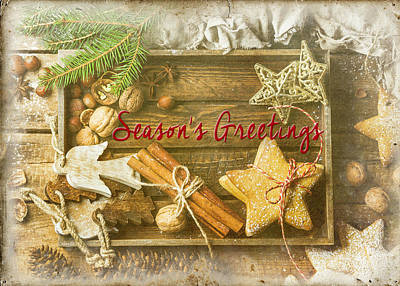 Door Locks And Handles Rights Managed Images - Seasons Greetings Royalty-Free Image by Teresa Wilson