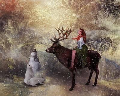 Digital Art -  Seasons Greetings by Terry Fleckney