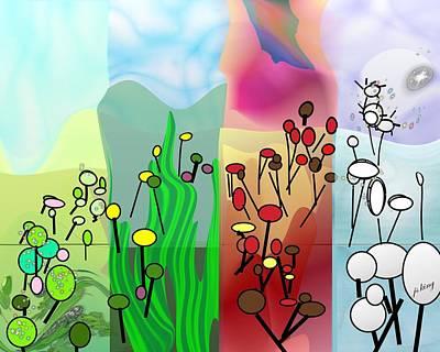 Friendly Digital Art - Seasons by Jacquie King