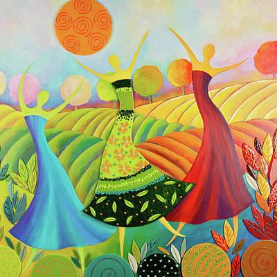 Dance Mixed Media - Seasons Of Beauty by Anne Nye
