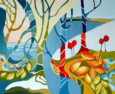 Seasons Of Creation Art Print by Carola Ann-Margret Forsberg