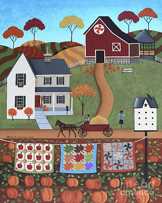 Hay Wagon Painting - Seasons Of Rural Life - Fall by Mary Charles