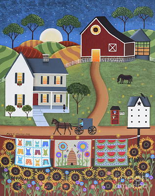 Horse And Buggy Painting - Seasons Of Rural Life - Summer by Mary Charles