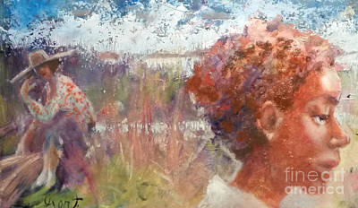 Gullah Geechee Painting - Seasons Of Sweetgrass by Gertrude Palmer