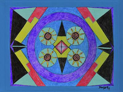 Mixed Media - Seasons Of The Sun by Donna Blackhall