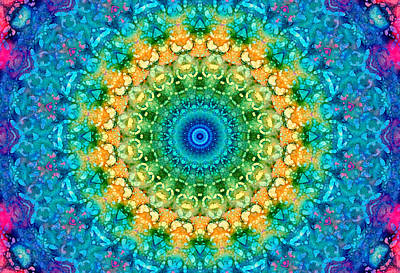Photograph - Seasons Summer Mandala by Lynne Guimond Sabean