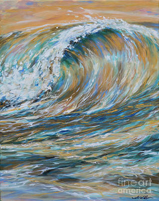 Seaspray Gold Art Print