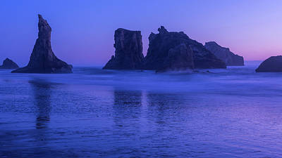 Seastack Sunset In Bandon Art Print