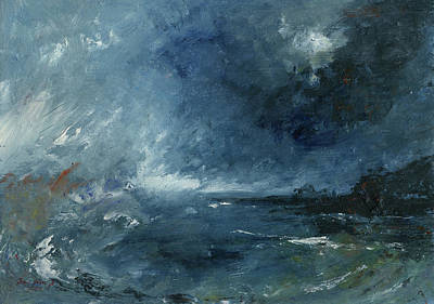 Abstract Seascape Art Painting - Seastorm by Juan Bosco