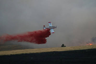 Photograph - Seat Drops On Indian Canyon Fire by Bill Gabbert