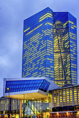 Photograph - Seat Of The European Central Bank by Fabrizio Troiani