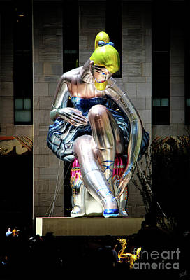 Installation Art Photograph - Seated Ballerina Rockefeller Plaza 5 by Nishanth Gopinathan