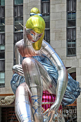Installation Art Photograph - Seated Ballerina Rockefeller Plaza 6 by Nishanth Gopinathan