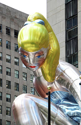 Installation Art Photograph - Seated Ballerina Rockefeller Plaza 8 by Nishanth Gopinathan