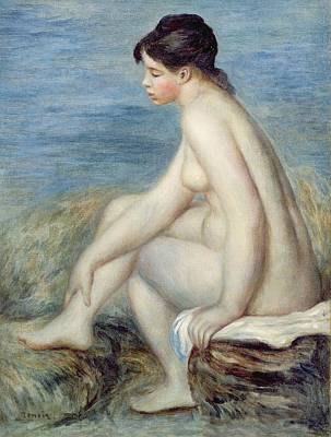 Nudes Painting - Seated Bather by Renoir