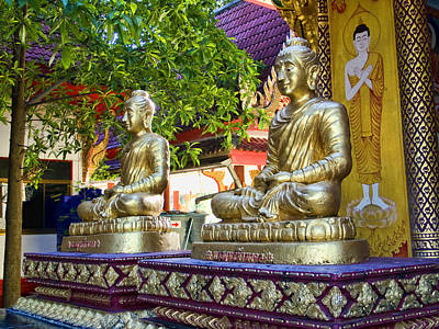 Photograph - Seated Buddhas by Charlene Mitchell