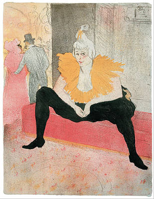 Painting - Seated Clowness by Henri De Toulouse-Lautrec