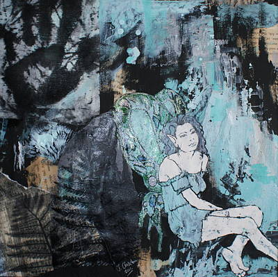 Seated Fairy With Hand 2 Print by Joanne Claxton