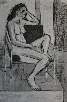 Seated Female Art Print by Joanne Claxton