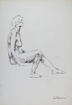 Firefighter Patents Royalty Free Images - Low Seated Female, Left Leg Forward. Student work. Royalty-Free Image by Jon Falkenmire