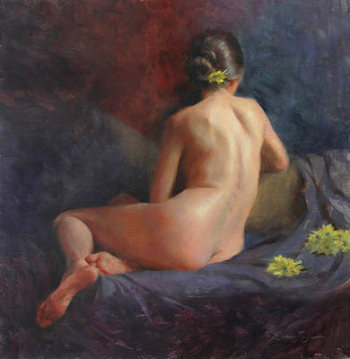Yellow Flowers Painting - Seated Figure by Anna Rose Bain