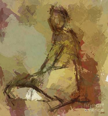 Painting - Seated Figure by Dragica Micki Fortuna