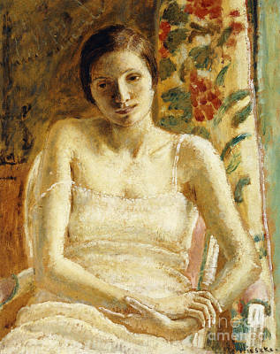 Looking Down Painting - Seated Figure by Frederick Carl Frieseke