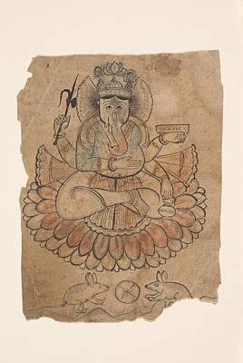 Seated Four-armed Ganesha Original by Ca 1775