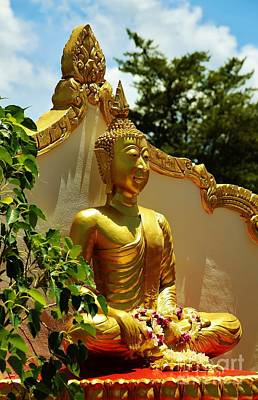 Photograph - Seated Laotian Buddha by Craig Wood
