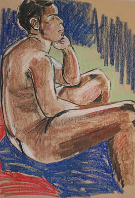Painting - Seated Male by Joanne Claxton