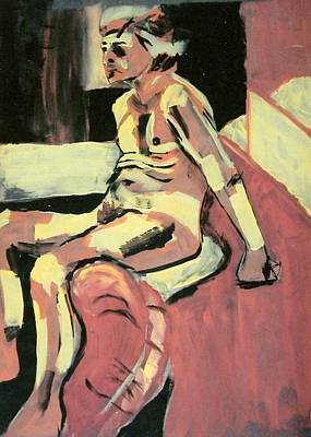 Painting - Seated Male Nude by Joanne Claxton