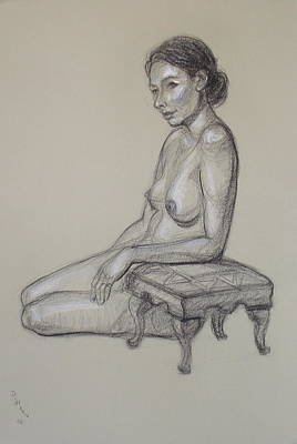 Seated Nude 3 Art Print by Donelli  DiMaria