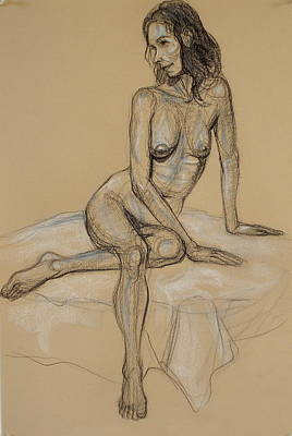 Seated Nude 4 Art Print by Donelli  DiMaria