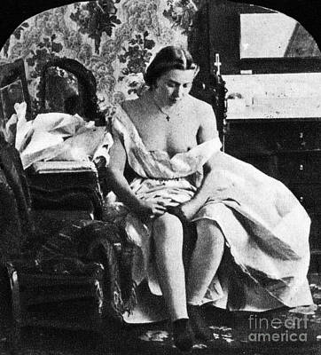 Photograph - Seated Nude, C1861 by Granger