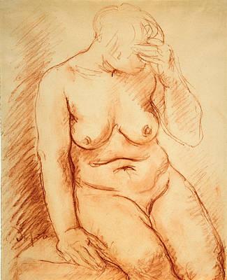 Drawing - Seated Nude by Charles-Albert Despiau