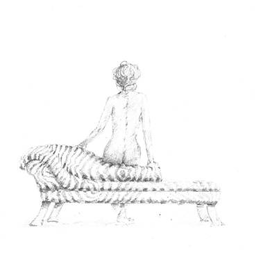 Nudes Drawing - Seated Nude by Lincoln Seligman