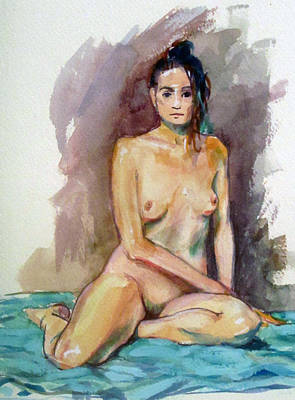 Painting - Seated Nude Straight On by Mark Lunde