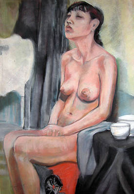 Painting - Seated Nude by Synnove Pettersen