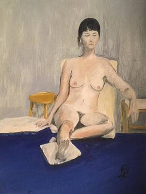 Painting - Seated Nude by Therese Legere