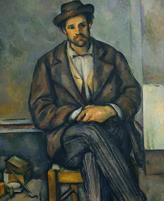 Painting - Seated Peasant by Paul Cezanne