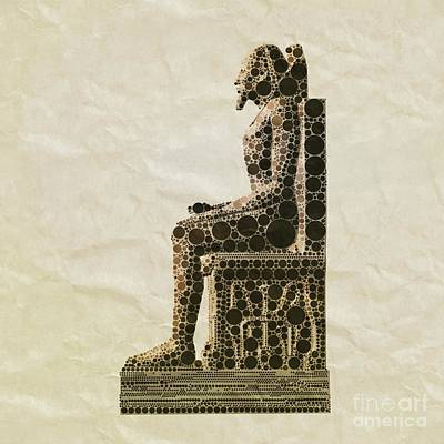 Holy Digital Art - Seated Pharaoh By Mb by Mary Bassett