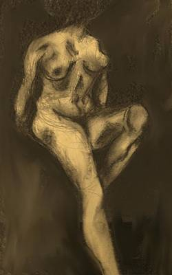 Drawing - Seated Pose by Ian  MacDonald