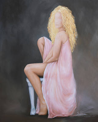 Painting - Seated Pose In Pink by Nicole Daniah Sidonie