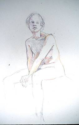 Painting - Seated Study 2 by Barbara Pease