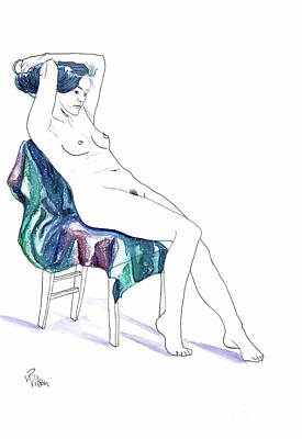 Painting - Seated Woman by D Renee Wilson
