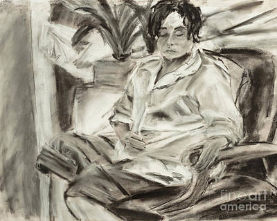 Drawing - Seated Woman by Edward Fielding
